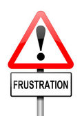 Frustration varning koncept. — Stockfoto