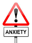 Anxiety warning. — Stock Photo