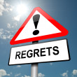 Regrets concept. - Stock Photo