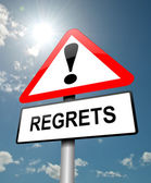Regrets concept. — Stock Photo