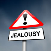 Jealousy concept. — Stock Photo
