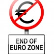 Euro zone concept. — Stock Photo