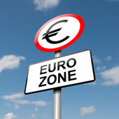 Euro zone concept. — Stock Photo