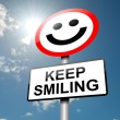 Keep smiling concept. — Stock Photo