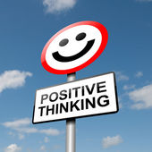 Positive thinking concept. — Foto Stock