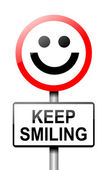 Keep smiling konzept. — Stockfoto