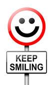 Garder le sourire concept. — Photo