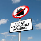 Affordable housing concept. — Stock Photo