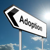 Adoption concept. — Stock Photo