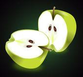 Apple halves. — Stock Photo