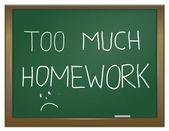 家庭作业压力. — 图库照片