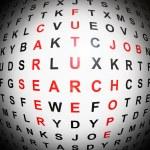 conceito de pesquisa de carreira — Foto Stock