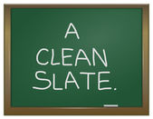 A clean slate concept. — Stock Photo