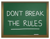 Dont break the rules. — Stock Photo