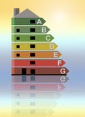 Energy efficiency rating. — Stock Photo