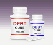 Debt cure concept. — Stock Photo