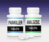Painkiller concept. — Stock Photo