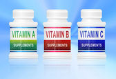 Vitamin supplements. — Stock Photo