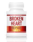 Mending a broken heart. — Stock Photo