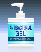Antibacterial gel dispenser. — Stock Photo