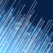 Blue fiber optic concept. - Stock Photo