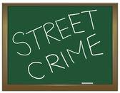 Concetto di criminalità di strada. — Foto Stock
