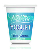 Probiotic yogurt. — Stock Photo