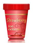 Strawberry Ice cream. — Stock Photo