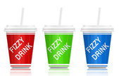 Fizzy drinks. — Stock Photo