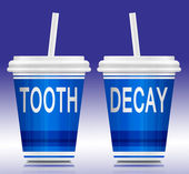 Tooth decay concept. — Stock Photo