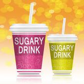 Sugary drinks. — Stock Photo
