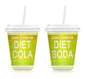 Diet drinks. — Stock Photo