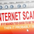Internet scam. - Stock Photo