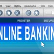 Stock Photo: Online banking.