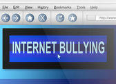 Internet bullying. — Stock Photo