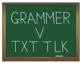 Grammar versus texting. — Stock Photo