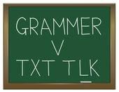 Grammar versus texting. — Stock Photo