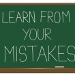 Learn from your mistakes. — Stock Photo #9836602
