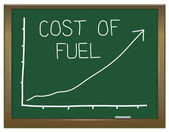 Increasing fuel prices. — Stock Photo