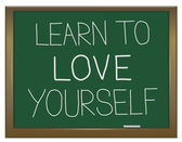Learn to love yourself. — Stock Photo