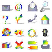 Computer and web icons — Stock Vector