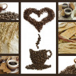 Coffee breakfast background - Stock Photo