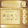 Vector Website Design Template with icons — Stock Vector