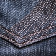Closeup of blue jeans texture — Stock Photo