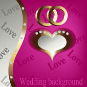 Wedding heart background — Stock Vector