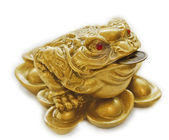 Chinese Feng Shui lucky money toad — Stock Photo