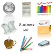 Business icons for office Vector set — Stock Vector