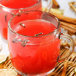 Hot Christmas drink glogg with cinnamon sticks - Stock Photo