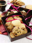 Cookies in gift box — Stock Photo