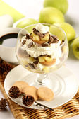 Tiramisu with apple — Stock Photo